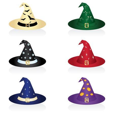 Vector illustratie van een heks de hoed voor Halloween