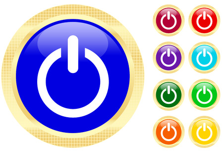 Icon of power button Stock Vector - 3702488