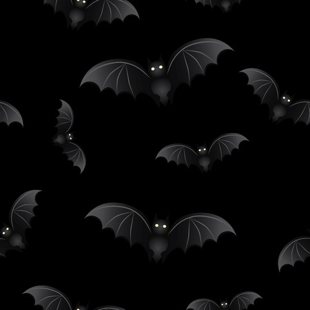 halloween bats: Seamless background with bats for Halloween Illustration