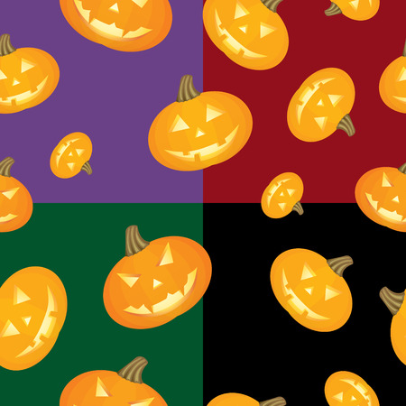 Seamless background with pumpkins for Halloween Vector