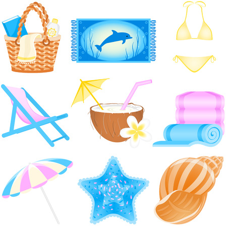 Set with vacations and travel icons Stock Vector - 4676446