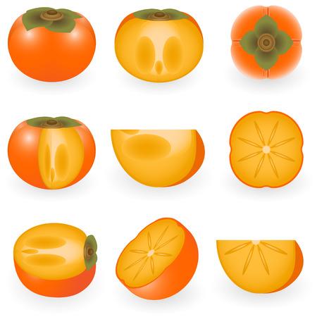 Vector afbeelding van persimmon Stock Illustratie