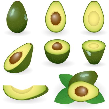 Vector afbeelding van avocado Stock Illustratie