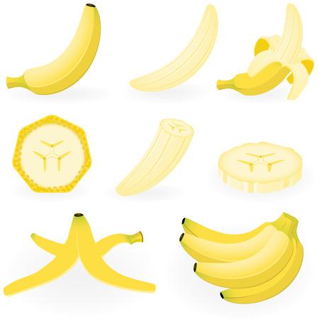 Illustration vectorielle de la banane  Vecteurs