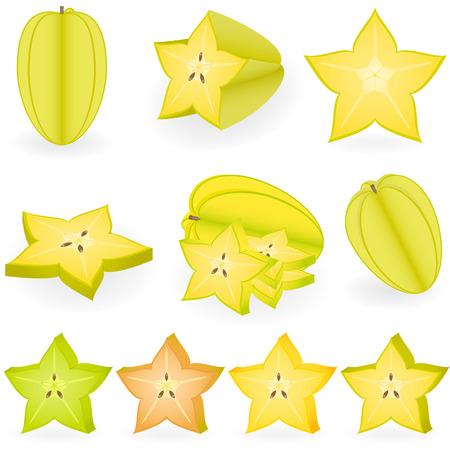 Vector illustration of starfruit