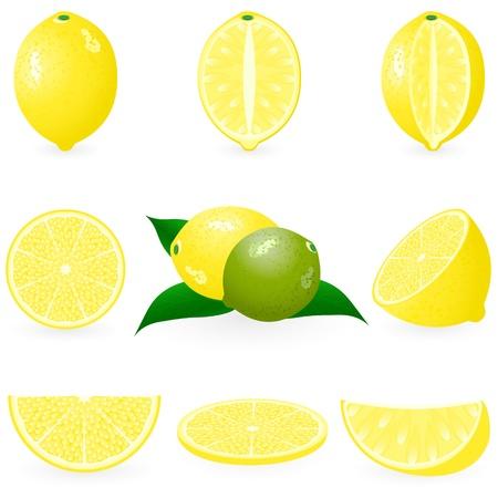 Set de icono de limón Foto de archivo - 10226263