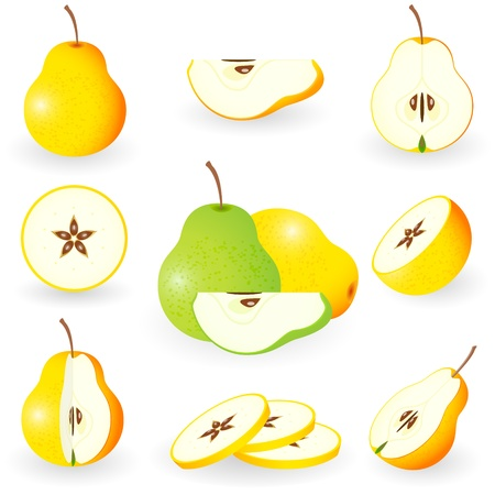 Icon Set Pear Illustration