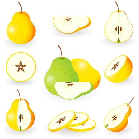 Icon Set Pear Stock Vector - 10226261