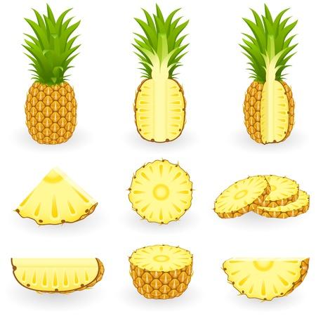 pineapple slice: Icon Set Pineapple