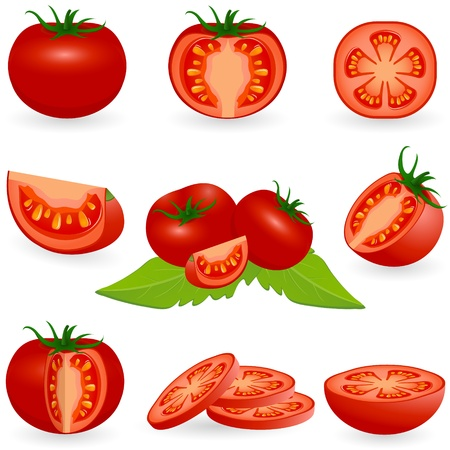 slice tomato: Icon Set Tomato