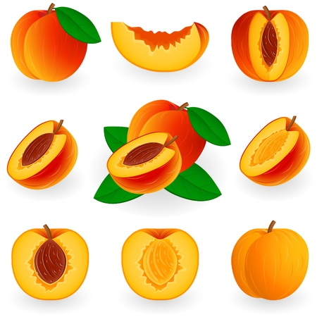 durazno: Icon Set Peach