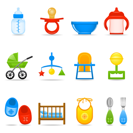 teat: Icon Set Baby Care