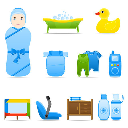 care: Icon Set Baby Care