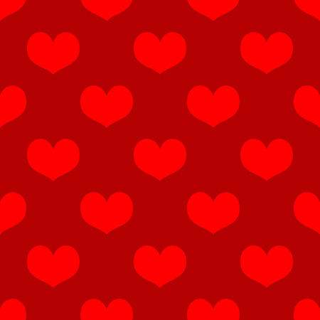 love hearts: Romantic seamless pattern with hearts for Valentine Day