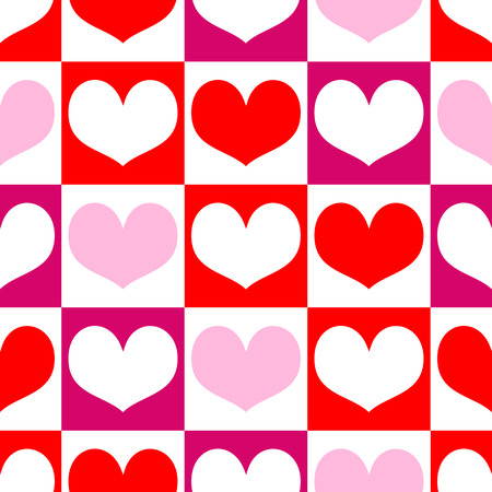 Romantic seamless pattern with hearts for Valentine Day