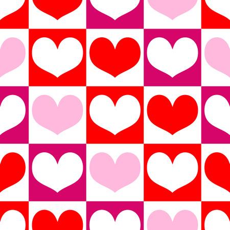 saint valentin coeur: Romantique seamless coeurs pour la Saint-Valentin