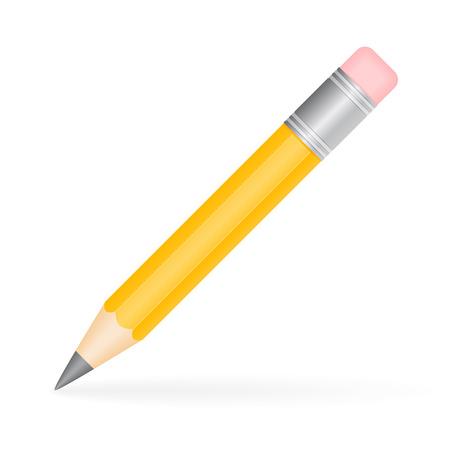 fournitures scolaires: illustration d'un crayon isolé sur fond blanc