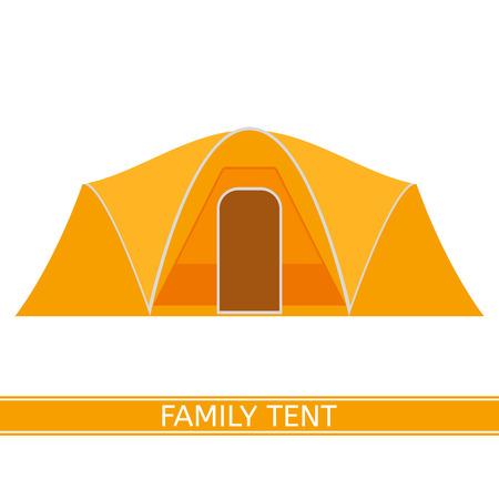 Camping tent pictogram Stock Illustratie
