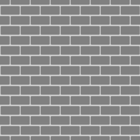 Illustration of grey brick wall in borderless pattern. Illustration