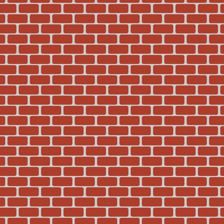 Vector illustratie van rode bakstenen muur. Naadloze patroon Vector Illustratie