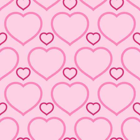 Seamless pattern for Valentine's Day in Pink background. Vectores
