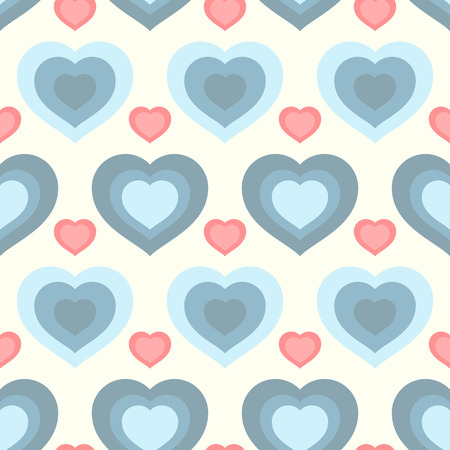 Vector illustration with hearts. Seamless pattern for Valentine's Day. Romantic background.
