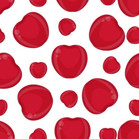 A Seamless pattern with cherries isolated on white background.