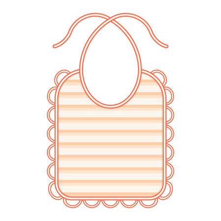 Baby bib isolated on white background. Vector illustration of baby feeding supplies.
