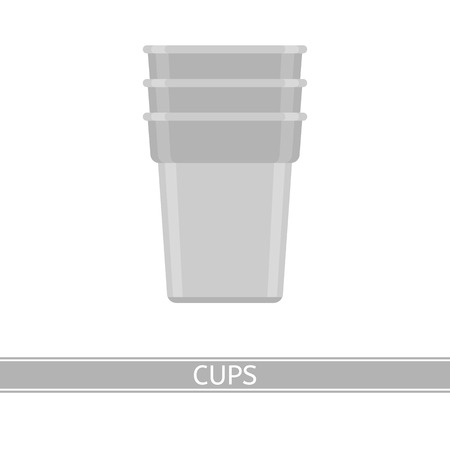 Camping cups vector icon isolated on white background. Flat style.