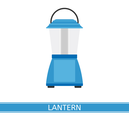 Camping lantern vector icon isolated on white background, in flat style Foto de archivo - 114826570