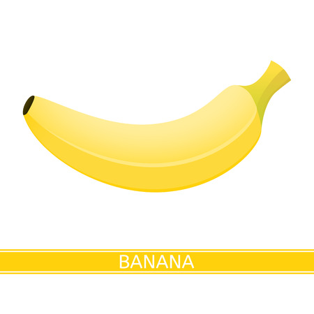 Vector illustration of banana icon isolated on white background Vectores