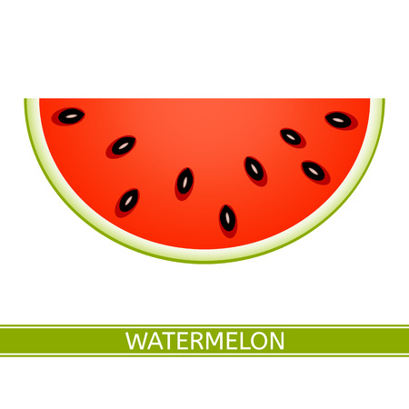 Vector illustration of watermelon slice isolated on white background