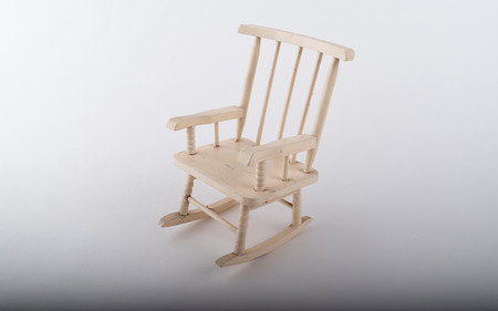 Small worn antique rocking chair