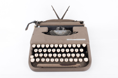 old typewriter worn by time
