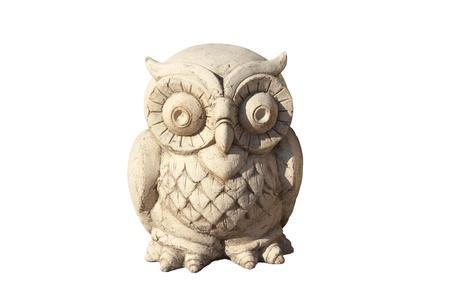 wood figurine: owl; figurine