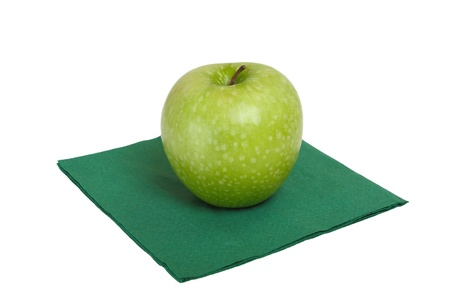 A single green apple a Granny Smith variety. Stock Photo - 8929550
