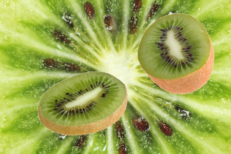 part of fruit of a kiwi against a close up Stock Photo - 8992281