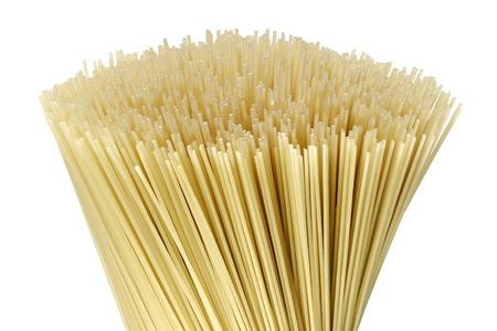 Uncooked pasta spaghetti macaroni ,isolated on white background Stock Photo