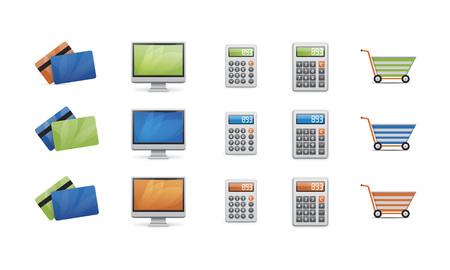 Vector business icons Ilustração