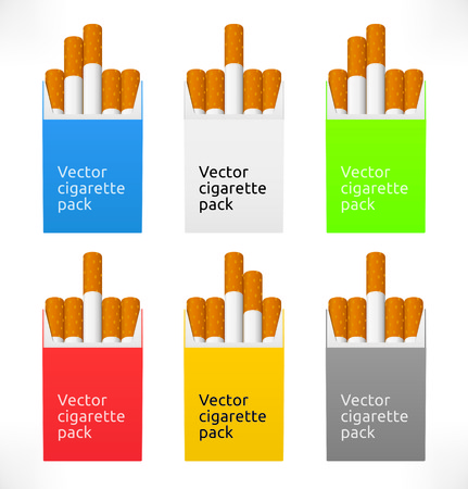 packets: Vector cigarette packets