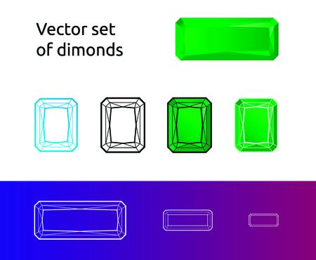 Vector set of diamonds
