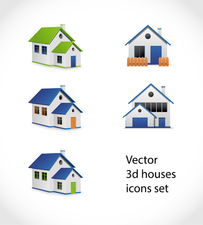 hypothec: Houses icons vector set