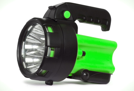 Plastic LED torch isolated