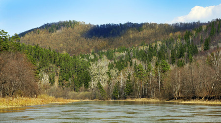 Hills at the Zilim river, Bashkortostan, Russia