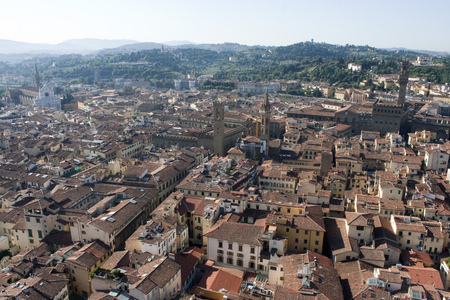 Red roofs of Florence Imagens