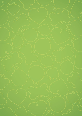Green vectorized pet tags background
