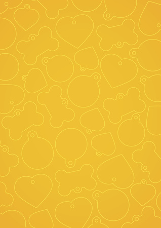 vectorized: Yellow vectorized pet tags background Illustration