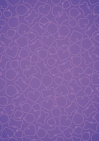 vectorized: Violet vectorized pet tags background