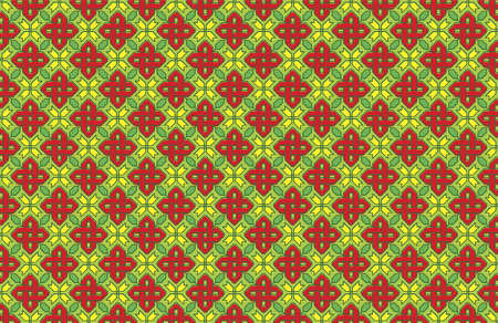 Background of a vectorized Russian ornament, seamless pattern