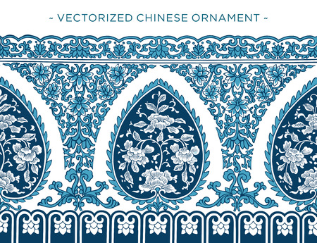 asiatic: Vecorized Chinese ornament Illustration